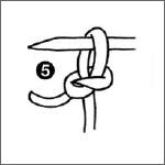 opzetten breisteken leren stap 5