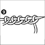 steken opzetten breien stap 9