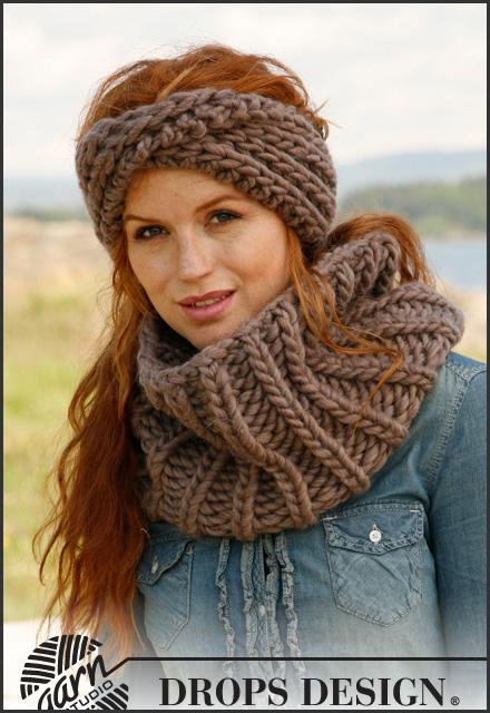 breipatroon col sjaal bold six voorbeeld