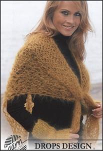sjaal breipatroon met polswarmers