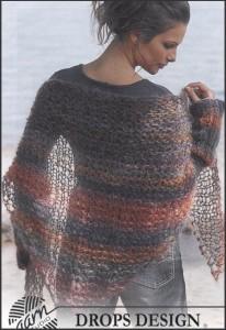 breipatroon sjaal puntsjaal wirll